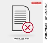 paperless icon on grey... | Shutterstock .eps vector #1048236250