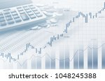 stock market or forex trading... | Shutterstock . vector #1048245388