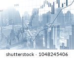 stock market or forex trading... | Shutterstock . vector #1048245406