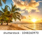 beautiful sea sunset | Shutterstock . vector #1048260970