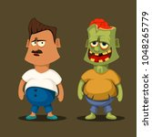 zombie and non zombie | Shutterstock .eps vector #1048265779