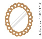 oval shaped decorative wall... | Shutterstock .eps vector #1048271734