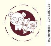 cute animals design | Shutterstock .eps vector #1048287238