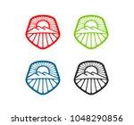 shining logo vector | Shutterstock .eps vector #1048290856