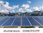 solar and modern city skyline  | Shutterstock . vector #1048293199