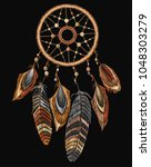 embroidery tribal dream catcher ...   Shutterstock .eps vector #1048303279
