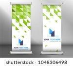 roll up business brochure flyer ... | Shutterstock .eps vector #1048306498
