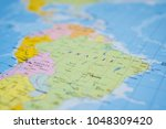 south america on the map | Shutterstock . vector #1048309420