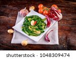 Plate With Buttered Spinach An...