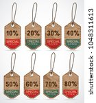 collection of discount label.... | Shutterstock .eps vector #1048311613