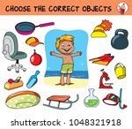 choose the correct objects for...   Shutterstock .eps vector #1048321918