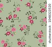 seamless floral pattern in folk ... | Shutterstock .eps vector #1048323520