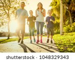 Family exercising and jogging...