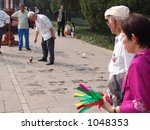 Older Chinese at Play - stock photo