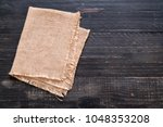 kitchen cloth  napkin  on wood... | Shutterstock . vector #1048353208