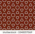 traditional geometric seamless... | Shutterstock .eps vector #1048357069