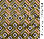 seamless abstract pattern with... | Shutterstock .eps vector #1048360438