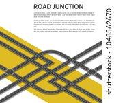 isometric complex road junction ... | Shutterstock .eps vector #1048362670