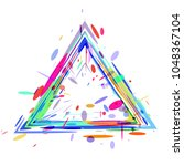 background from geometric... | Shutterstock .eps vector #1048367104