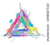 background from geometric... | Shutterstock .eps vector #1048367110