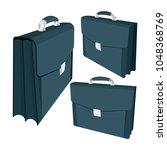 briefcase vector illustrations... | Shutterstock .eps vector #1048368769