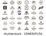 vintage retro vector logo for... | Shutterstock .eps vector #1048369156