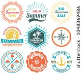 summer retro vector logo for... | Shutterstock .eps vector #1048369486