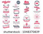 wedding retro vintage vector... | Shutterstock .eps vector #1048370839