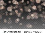 bokeh lights effect isolated on ... | Shutterstock .eps vector #1048374220