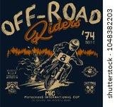 off road riders | Shutterstock .eps vector #1048382203