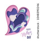 happy mothers day card.... | Shutterstock .eps vector #1048390246