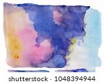 watercolor blotch. splash | Shutterstock . vector #1048394944