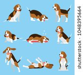 cool illustration with friendly ... | Shutterstock .eps vector #1048395664