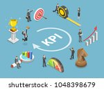 key performance indicator flat... | Shutterstock .eps vector #1048398679