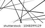 random  chaotic lines in... | Shutterstock .eps vector #1048399129