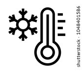 snowfall  vector line icon