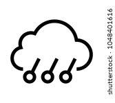 weather vector line icon