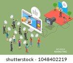 influencer marketing flat... | Shutterstock . vector #1048402219
