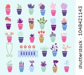 vector background with... | Shutterstock .eps vector #1048421143