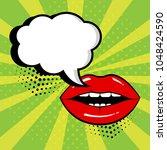 empty white comic bubble for... | Shutterstock .eps vector #1048424590