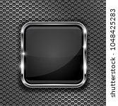 black button frame on... | Shutterstock .eps vector #1048425283
