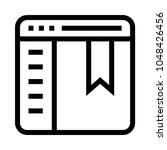 web bookmark vector line icon