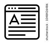 online blog vector line icon
