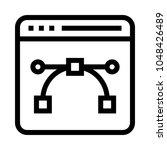 vector web page vector line icon