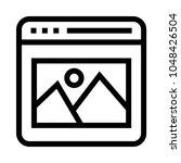 web image vector line icon