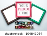 frames  palette of watercolor... | Shutterstock . vector #104843054