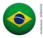 brazil flag pattern 3d... | Shutterstock . vector #104843120