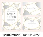 luxury wedding invite ... | Shutterstock .eps vector #1048442899