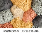 various kinds of cosmetic clay  | Shutterstock . vector #1048446208