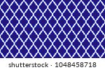 seamless thai pattern  blue and ... | Shutterstock .eps vector #1048458718